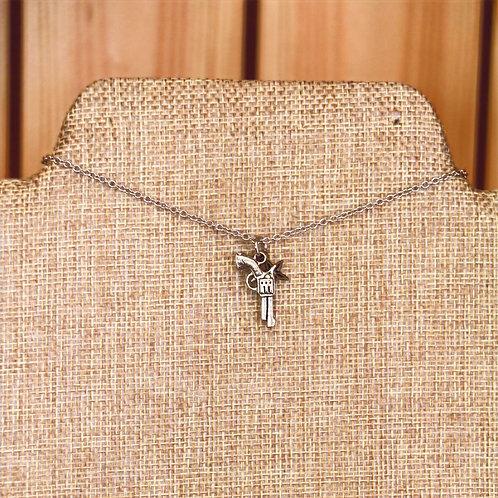 Delicate Pistol Necklace
