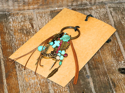 Bling Cowboy Boot Keychain