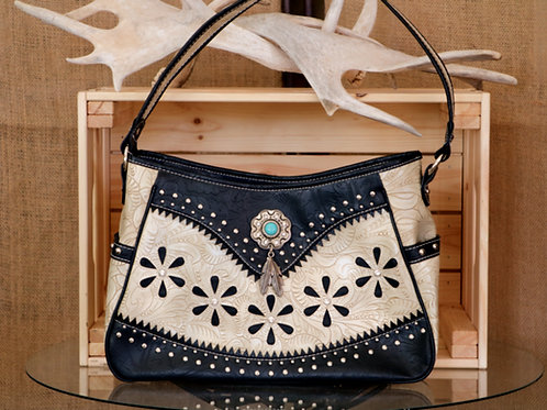 Black and While Leather Purse
