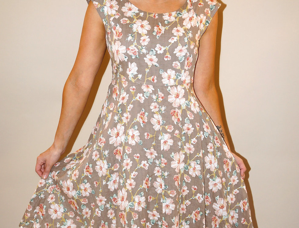 Madeline Midi Dress Tan
