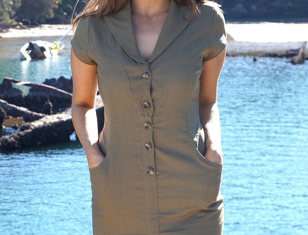 Jane Khaki Dress