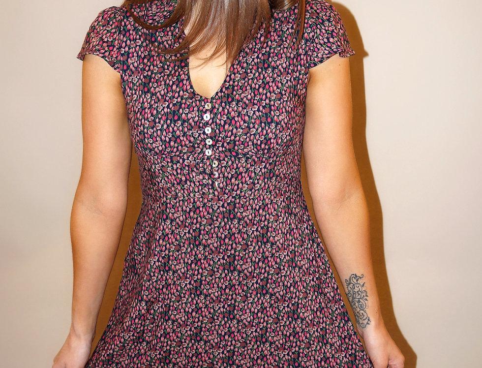 Eleanor Cotton Dress Purple