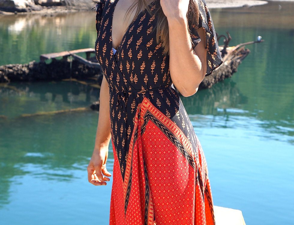 Camilla Cotton Wrap Dress
