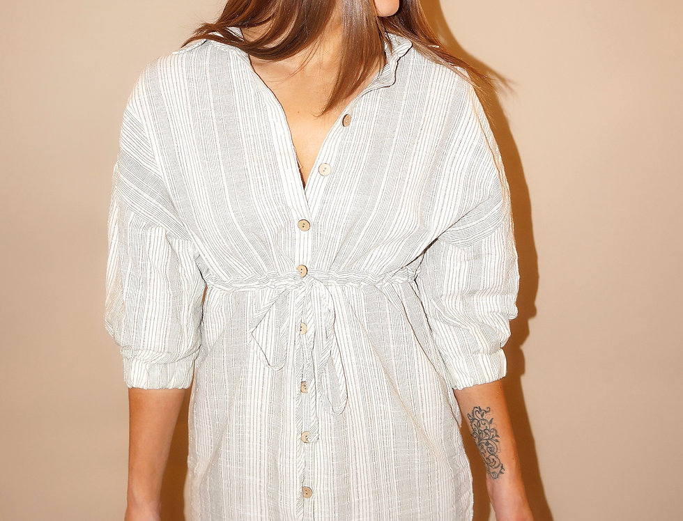 Halle Cotton Shirt Dress