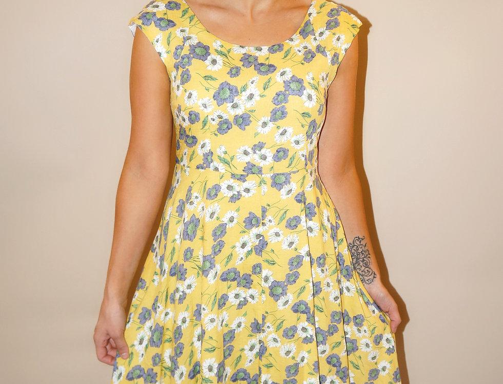 Madeline Midi Dress Yellow
