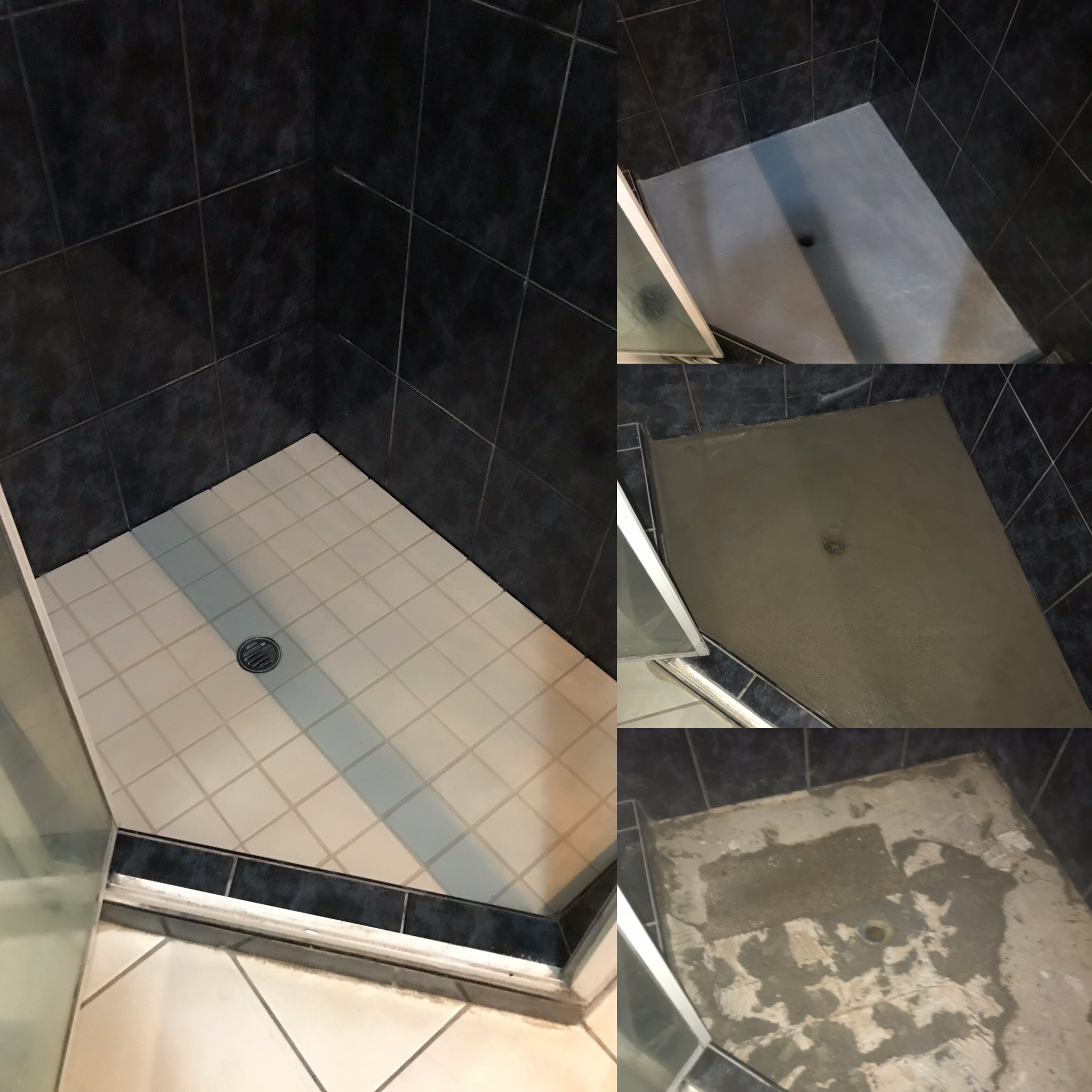 tile shower recess upgrade
