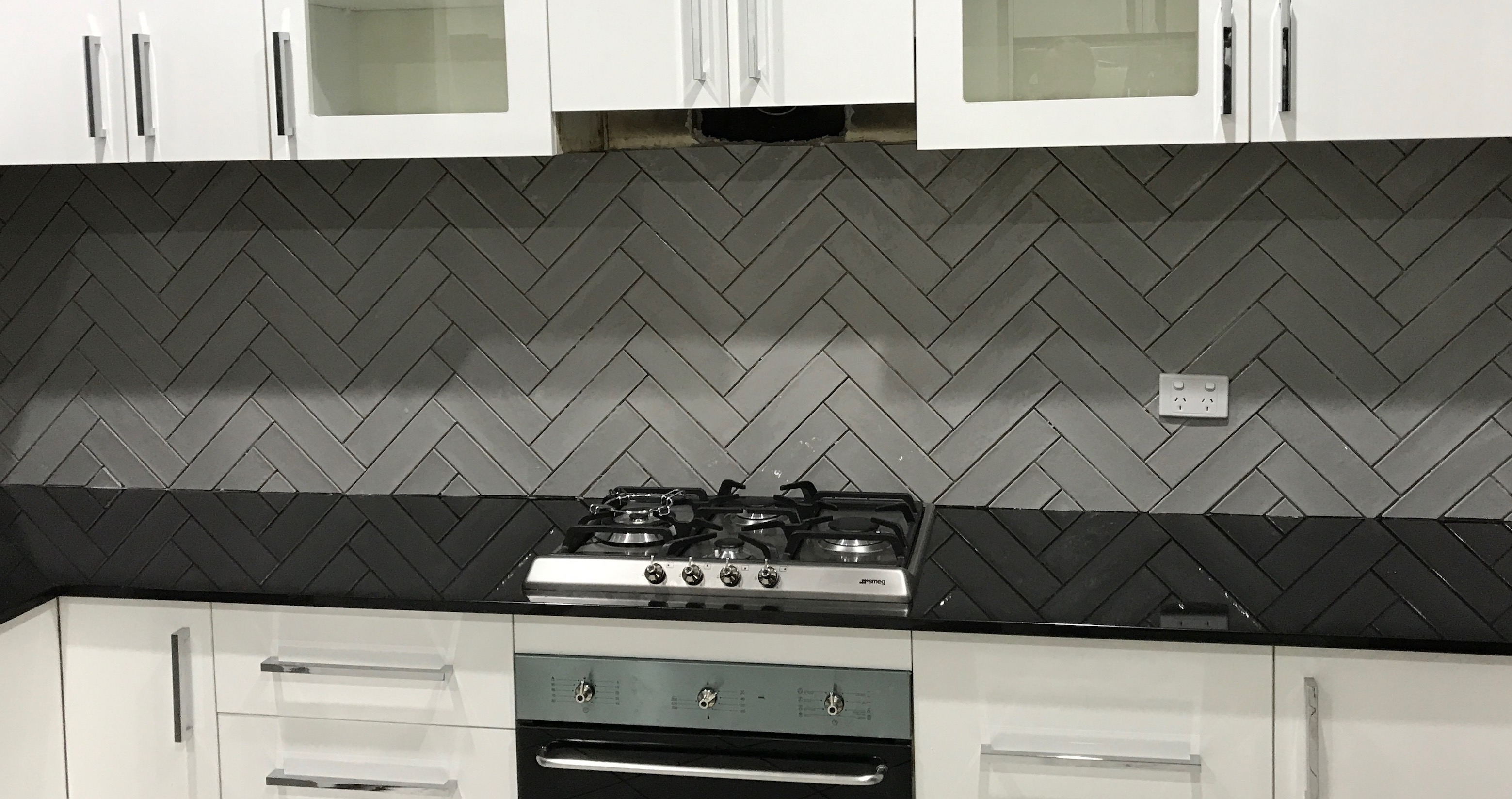 new herringbone tiles