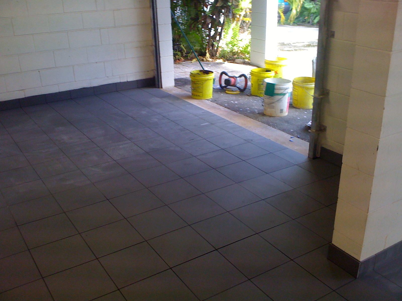 carport tiles installed