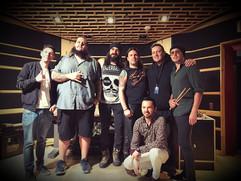 Recording session at White Lemon Studios