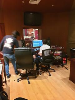 In the recording studio!