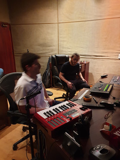 In recording session