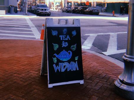tea is wisdom.