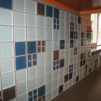 Glass Tile Blended Mosaic