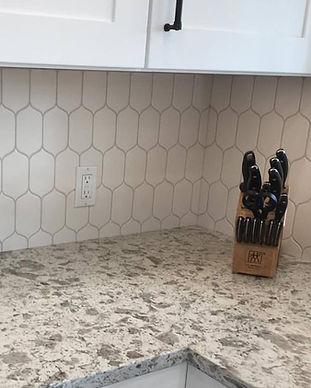Kitchen Tile Flask Shape Matte White
