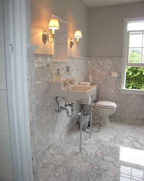 Carrara Marble Tile Bathroom