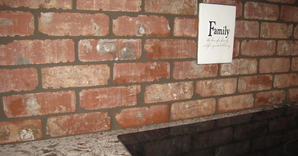 Porcelain brick mimic kitchen tile