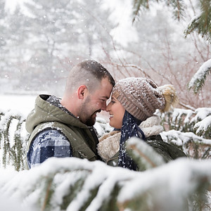 Deanna and Corey's Winter Wonderland Engagement Session