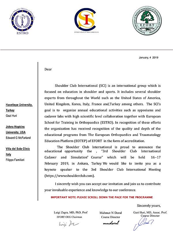 SCI invitation letter and programme inte