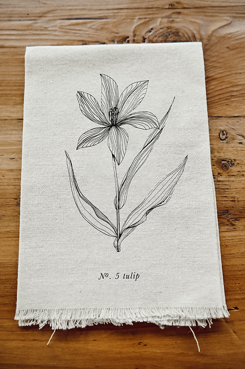 Botanical Napkin - Tulip