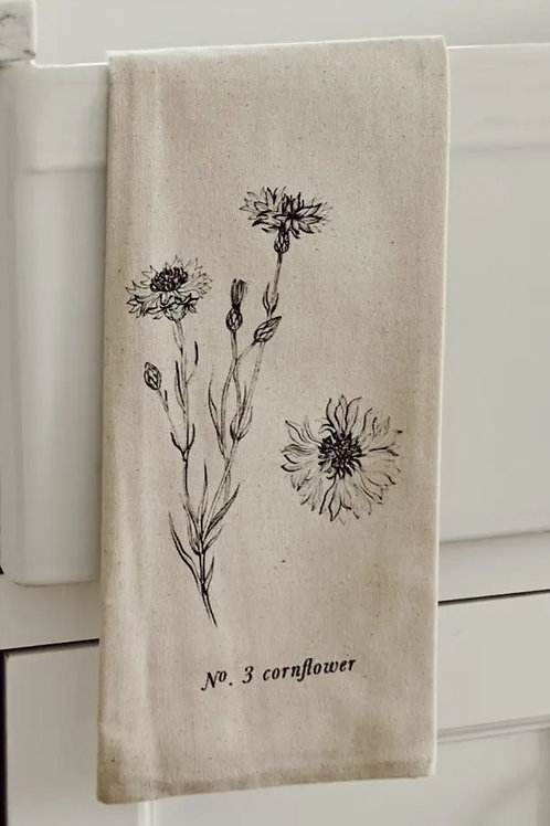 Botanical Tea Towel - Cornflower