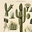 Thumbnail: Vintage Cactus Canvas w/Magnetic Hanging Frame