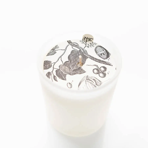 Gardenia Blossoms Glass Candle