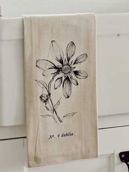 Botanical Tea Towel - Dahlia