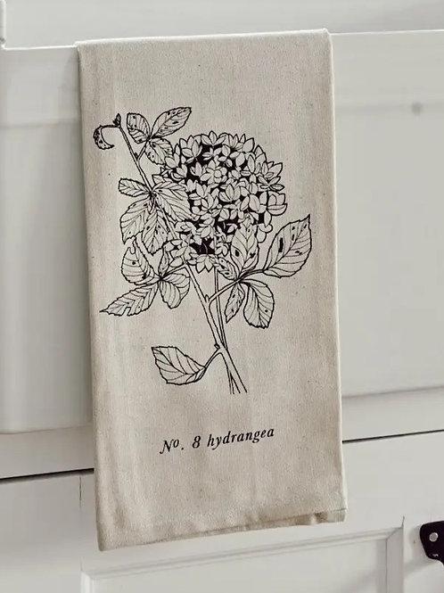 Botanical Tea Towel - Hydrangea