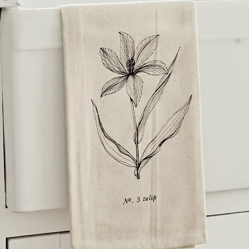 Botanical Tea Towel - Tulip