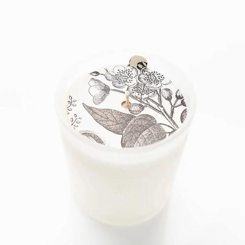 Vintage Peony Glass Candle