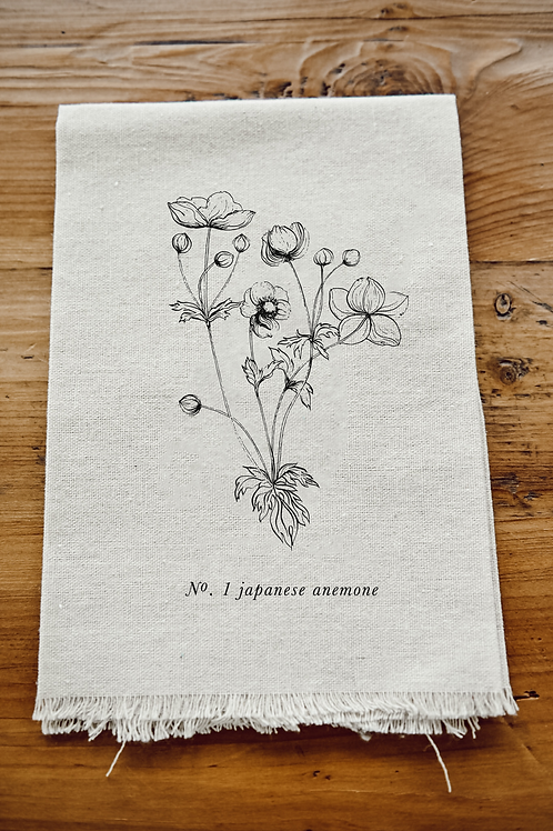 Botanical Napkin - Japanese Anemone