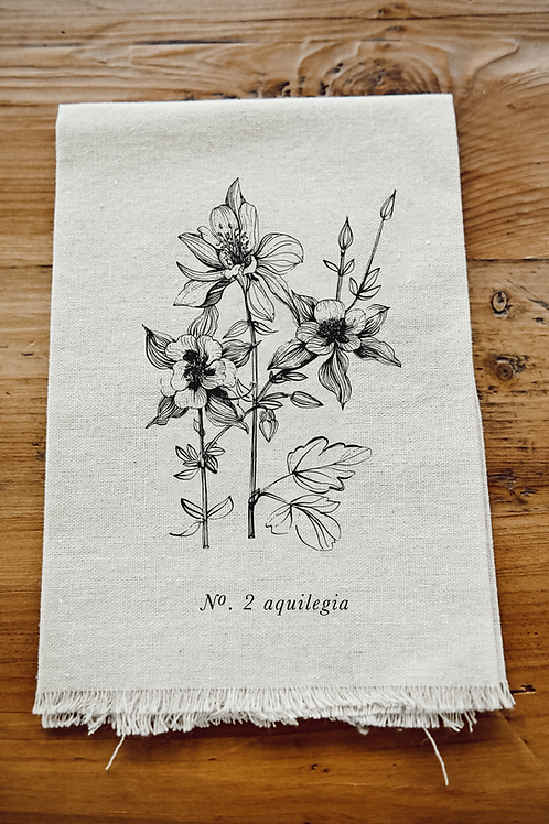 Botanical Napkin - Aquilegia