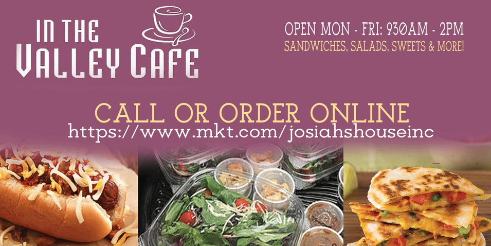 In the Valley Cafe - See Our Menu!