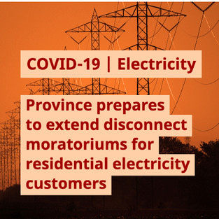 Province prepares to extend disconnect moratoriums for residential electricity customers