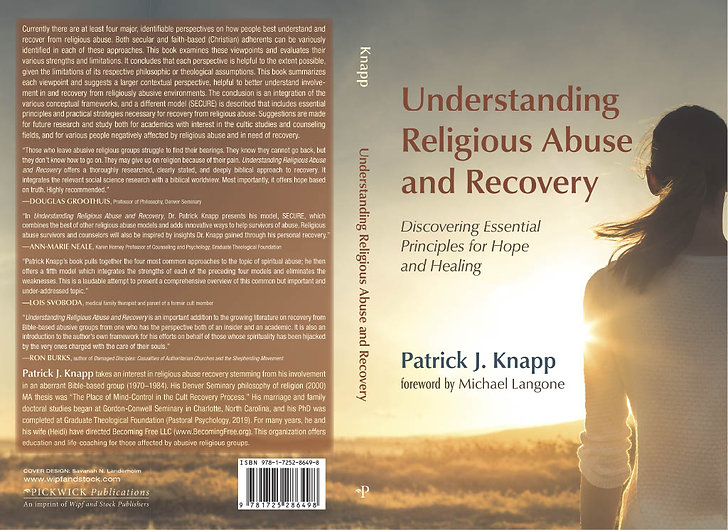 Upcoming book on religious abuse and recovery due out in March 2021