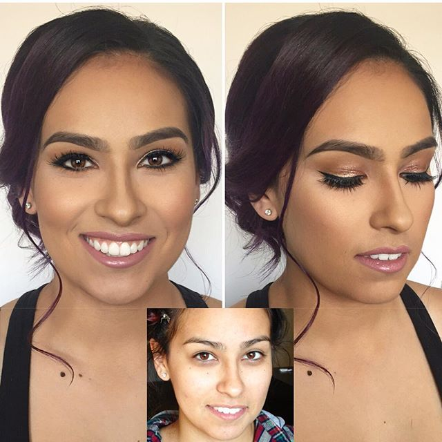 Before and after on this stunner friend of mine for a wedding she was in😍😘💄💋 what a babe! _steph