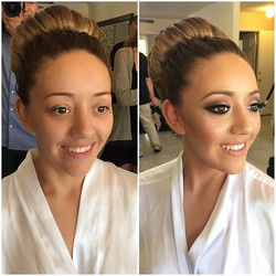 Loved this 'messy' yet polished updo we created inspired by the beautiful Hilary Duff 🙌🏼 and this