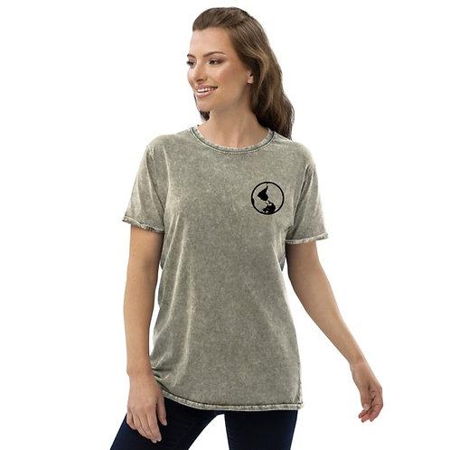 Women's Distressed Globe TShirt