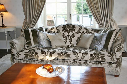 Silk Interlined Curtains with bespoke tiebacks, Interior Design, Interior Designer, Leamington, Warwickshire, Midlands, Curtains, Blinds