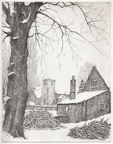 A Cottage Under Snow