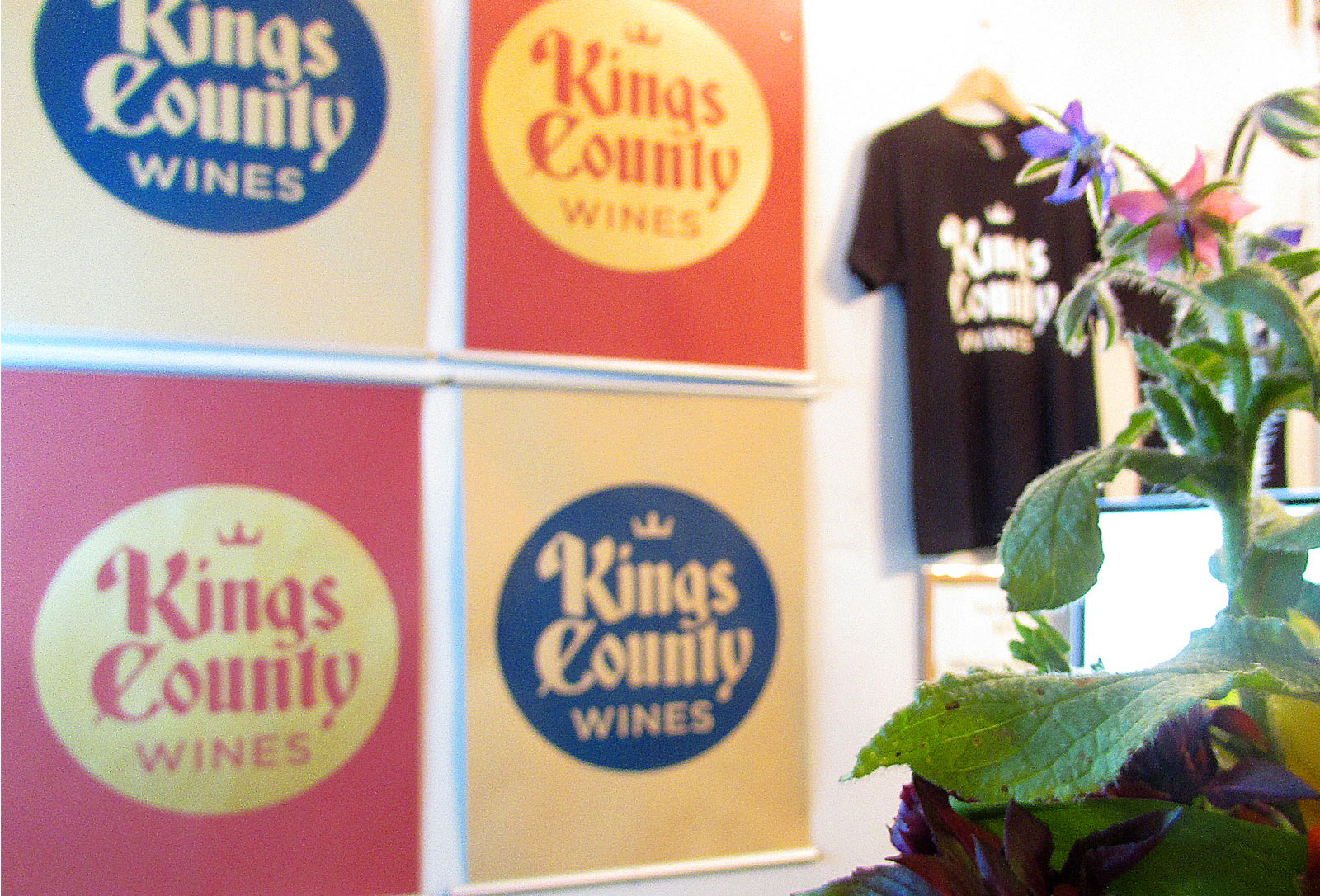 Kings County Wines interior signage