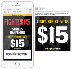 Fight for $15 social posts