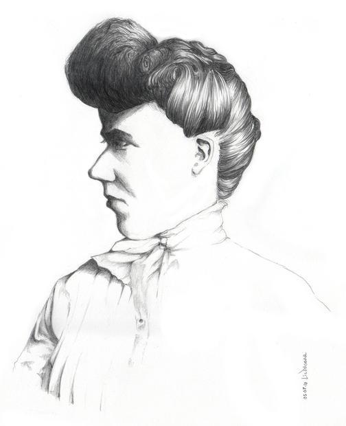 Woman with a Folded Ear