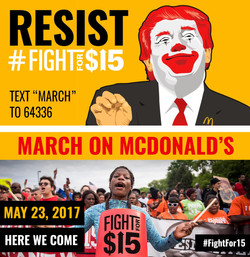 Fight for $15 Donald McTrump social posts