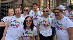 Pride Uncontained tee shirts for World Pride marching contingent