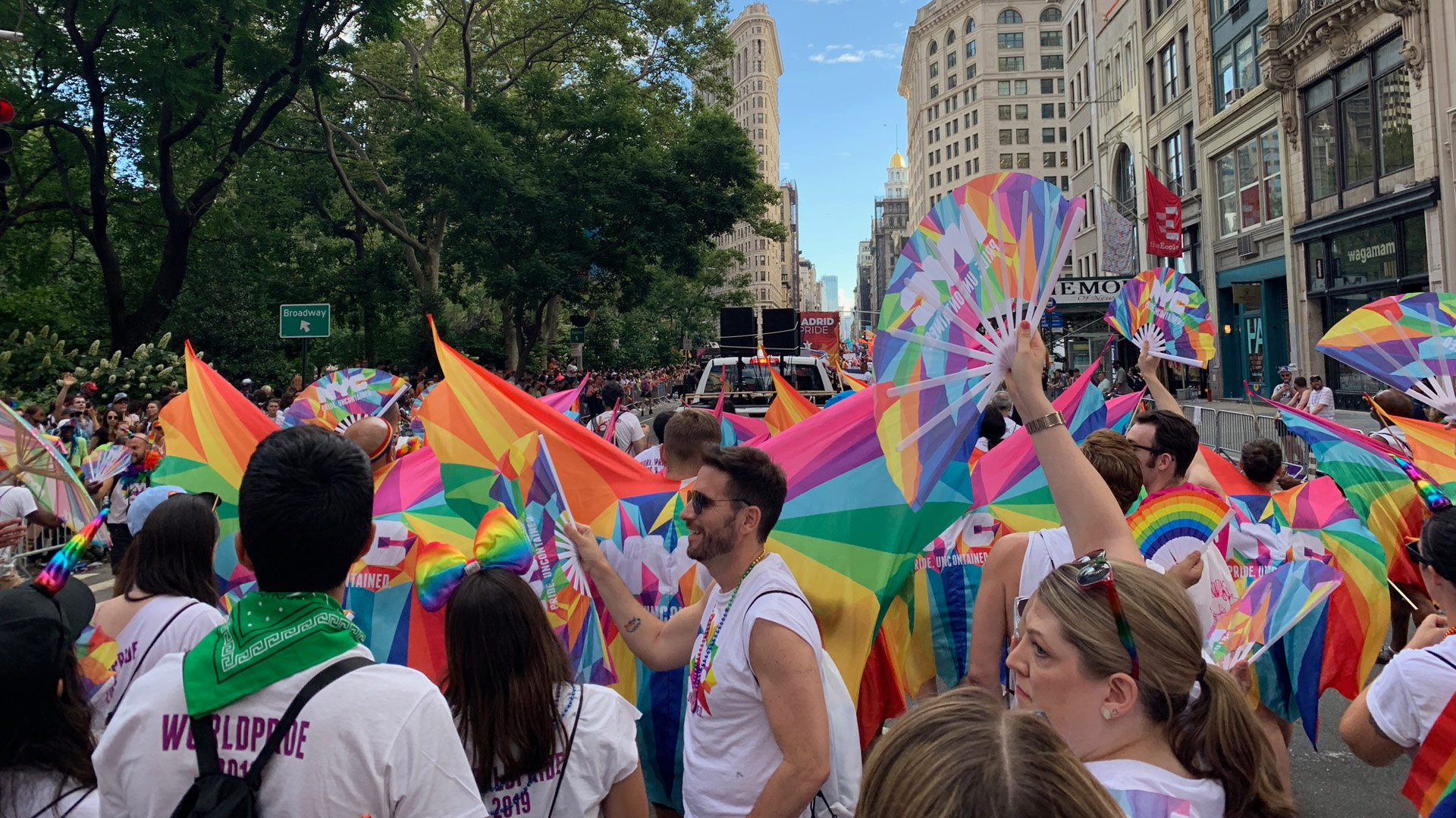 Pride Uncontained swag for World Pride marching contingent