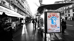 NYC tourism campaign poster in Paris