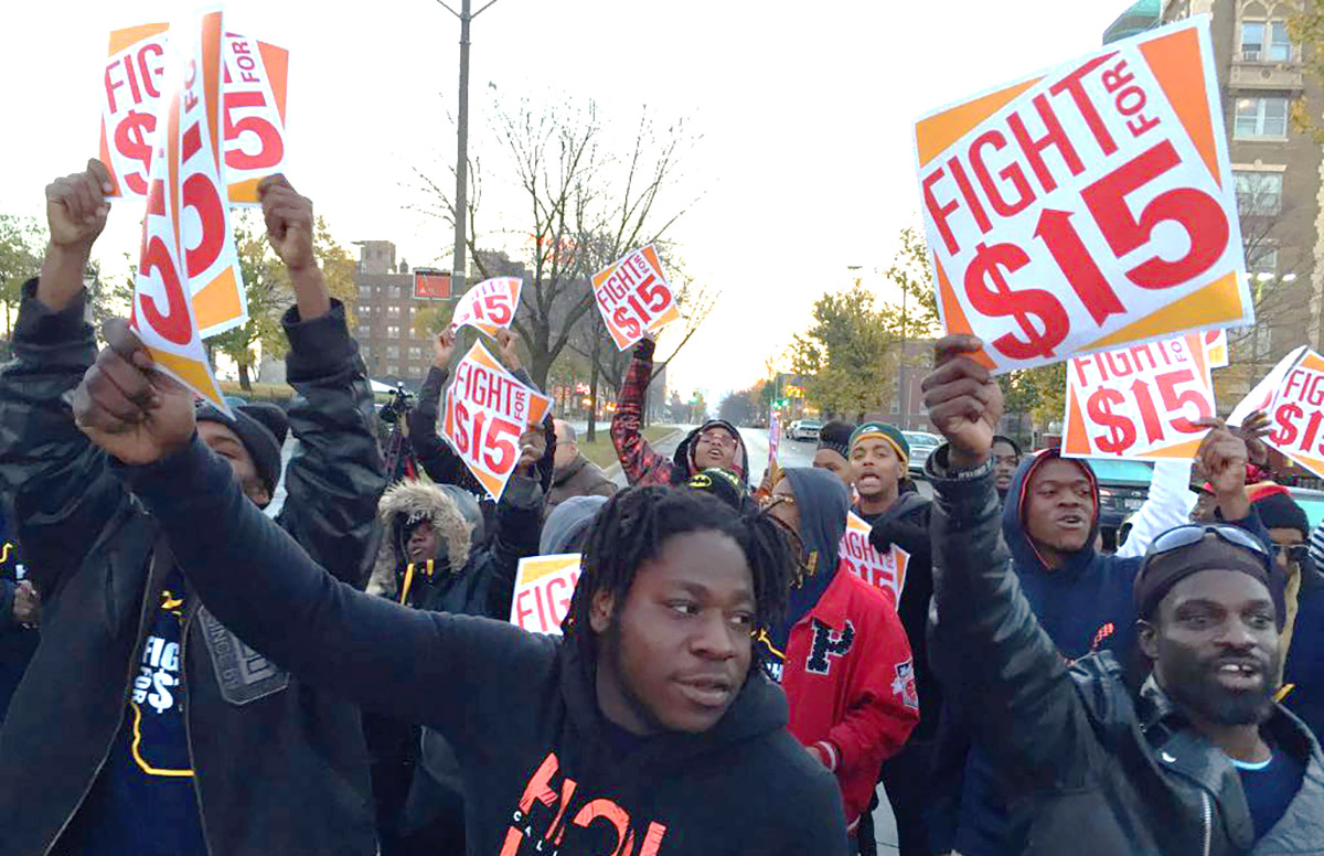 Fight for $15 rally in Milwaukee