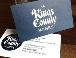 Kings County Wines business card