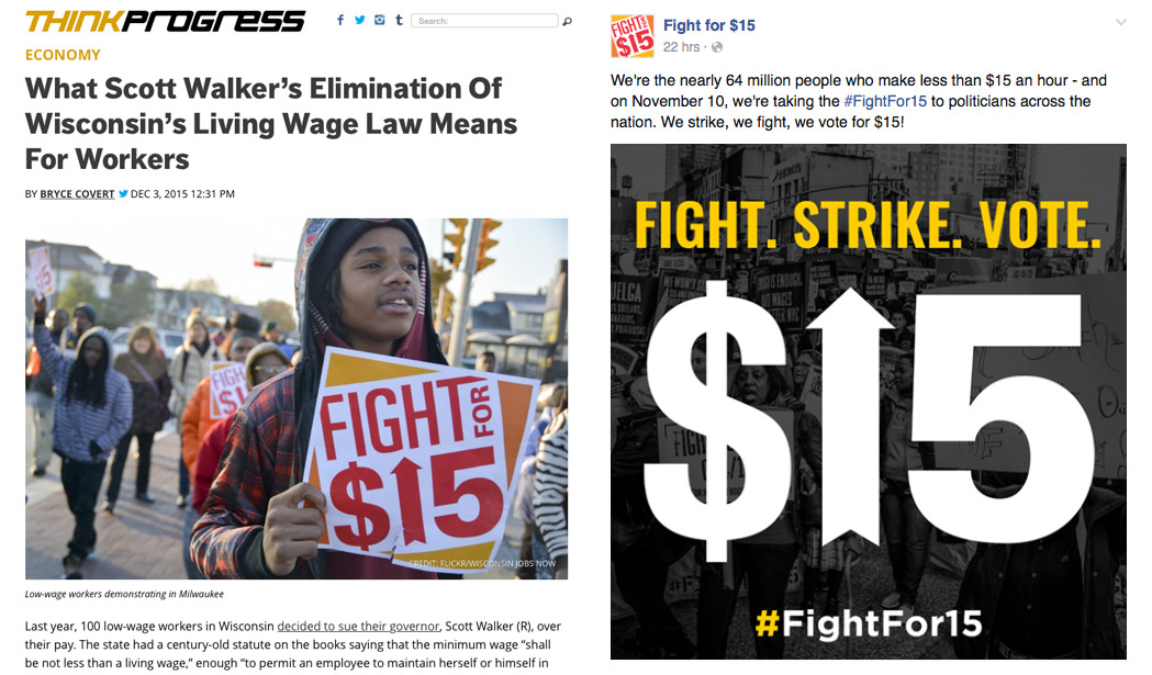 Fight for $15 in the media